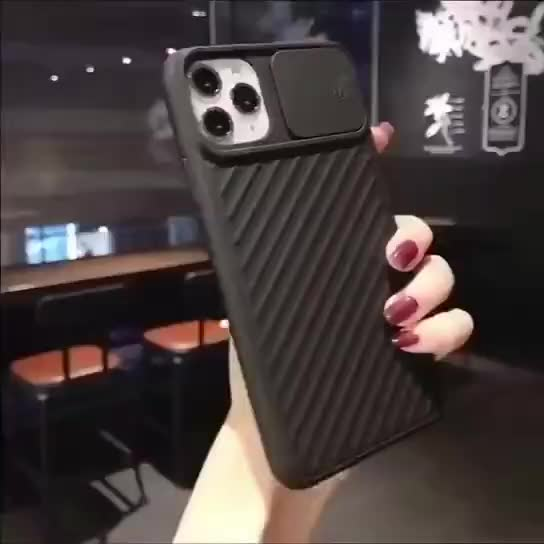 Multicolor soft tpu camera slide door protect mobile phone case For Iphone 11/11pro/11pro max back cover