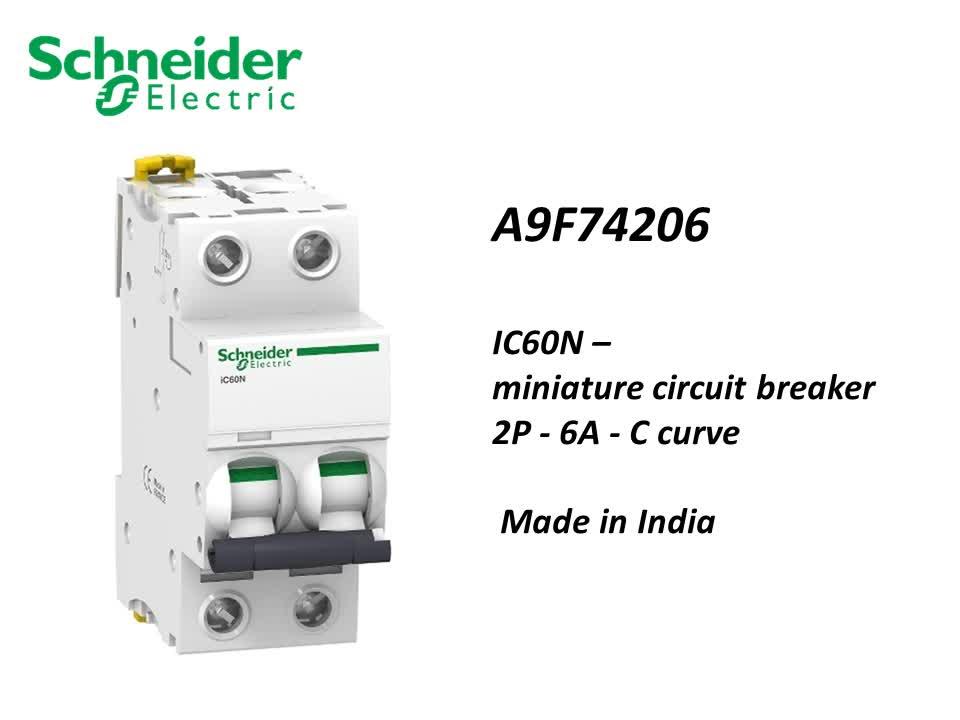 Schneider elektrische 2 pole Acti 9 IK60N leitungsschutzschalter