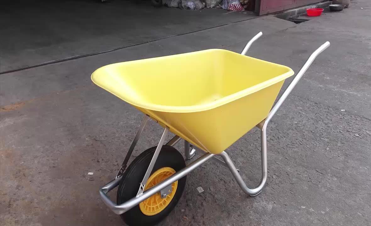 Venda quente do metal e plástico roda do carrinho de mão wb6414 para venda