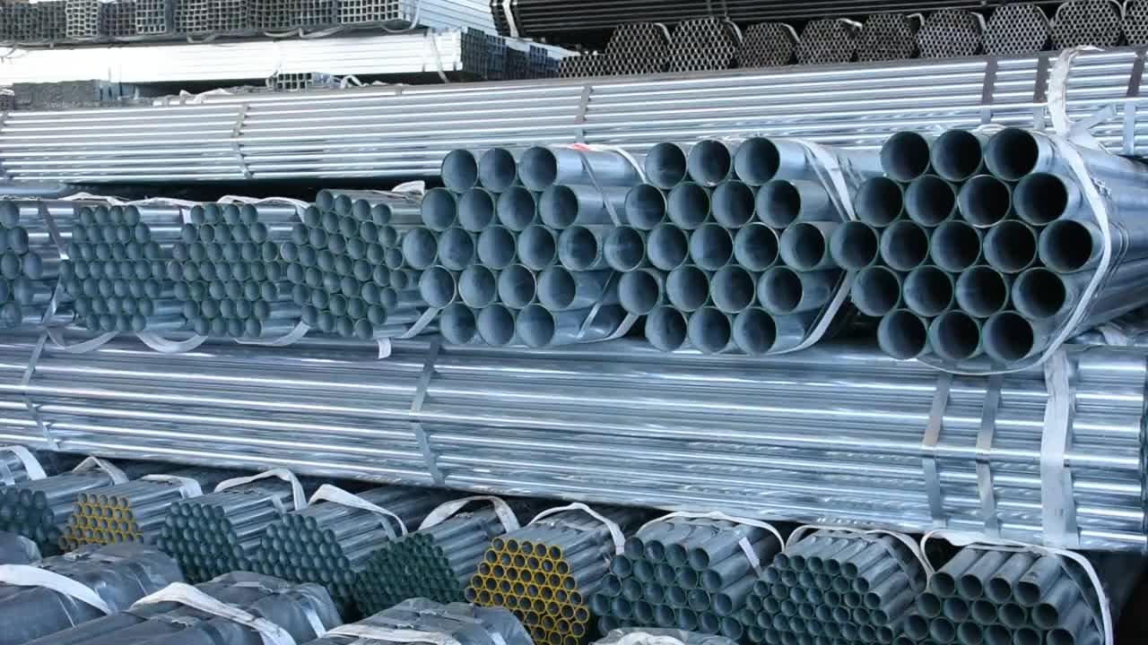 निर्माता टियांजिन कारखाने astm a53 जस्ती स्टील पाइप