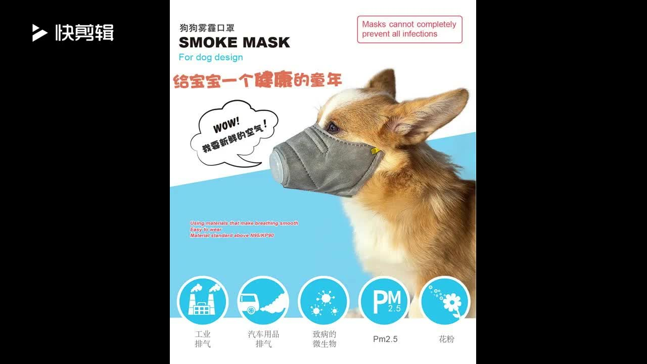 Factory supply Japanese design N95/KP90 breathing smooth material Smoke protection PM 2.5 mask for dog design
