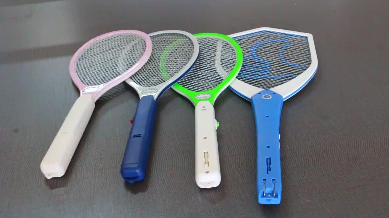 2 単三電池は手ラケット電気蚊たたき昆虫家庭菜園害虫バグフライモスキートザッパー