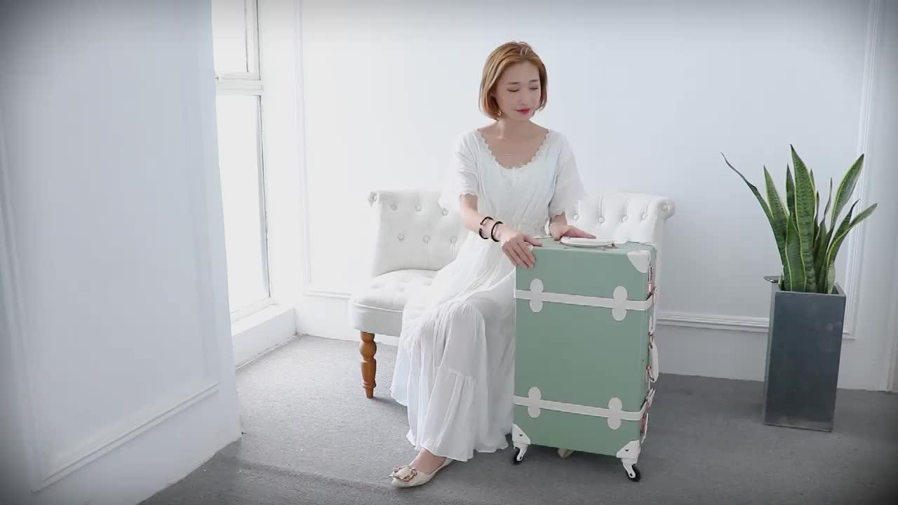Cool D'avion Uniques Corée Mignon Vintage Valise Boîte Enfants Équitation Rouleau Ensemble De Bagages Avec Roues Silencieuses
