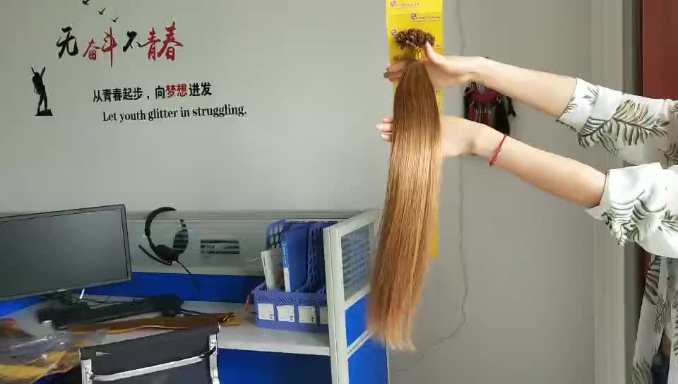 100% virgin wholesale raw straight russian hair extension u tip