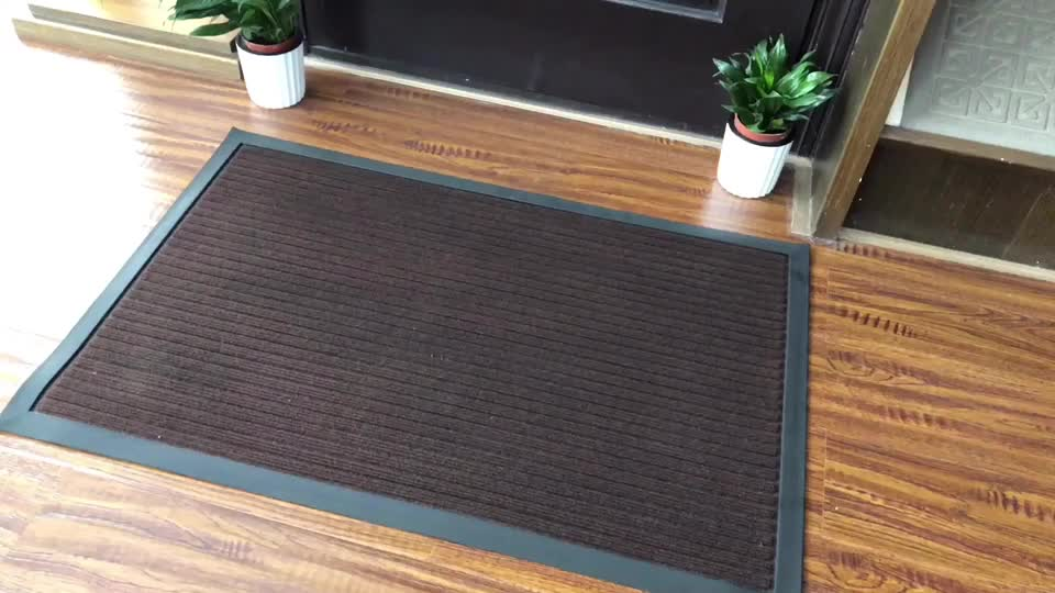 Amazon hot multi size printing washable entrance household non slip door mat