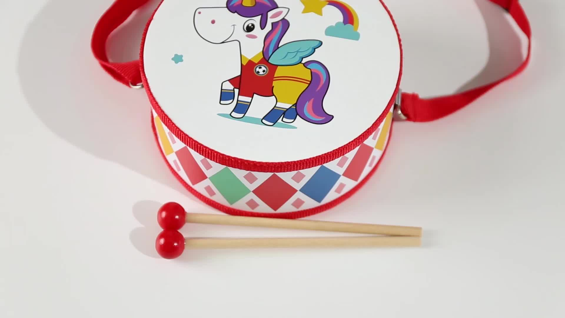 New Arrival Play Musical Instrument Set Unicorn Kids Educational Wooden Drum Toys