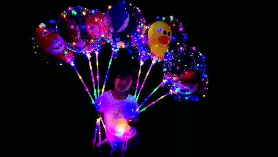 Swing pelota 18 24 36 pulgadas Tipo de LED brillante en forma de corazón de Bobo globo inflable de LED de globo