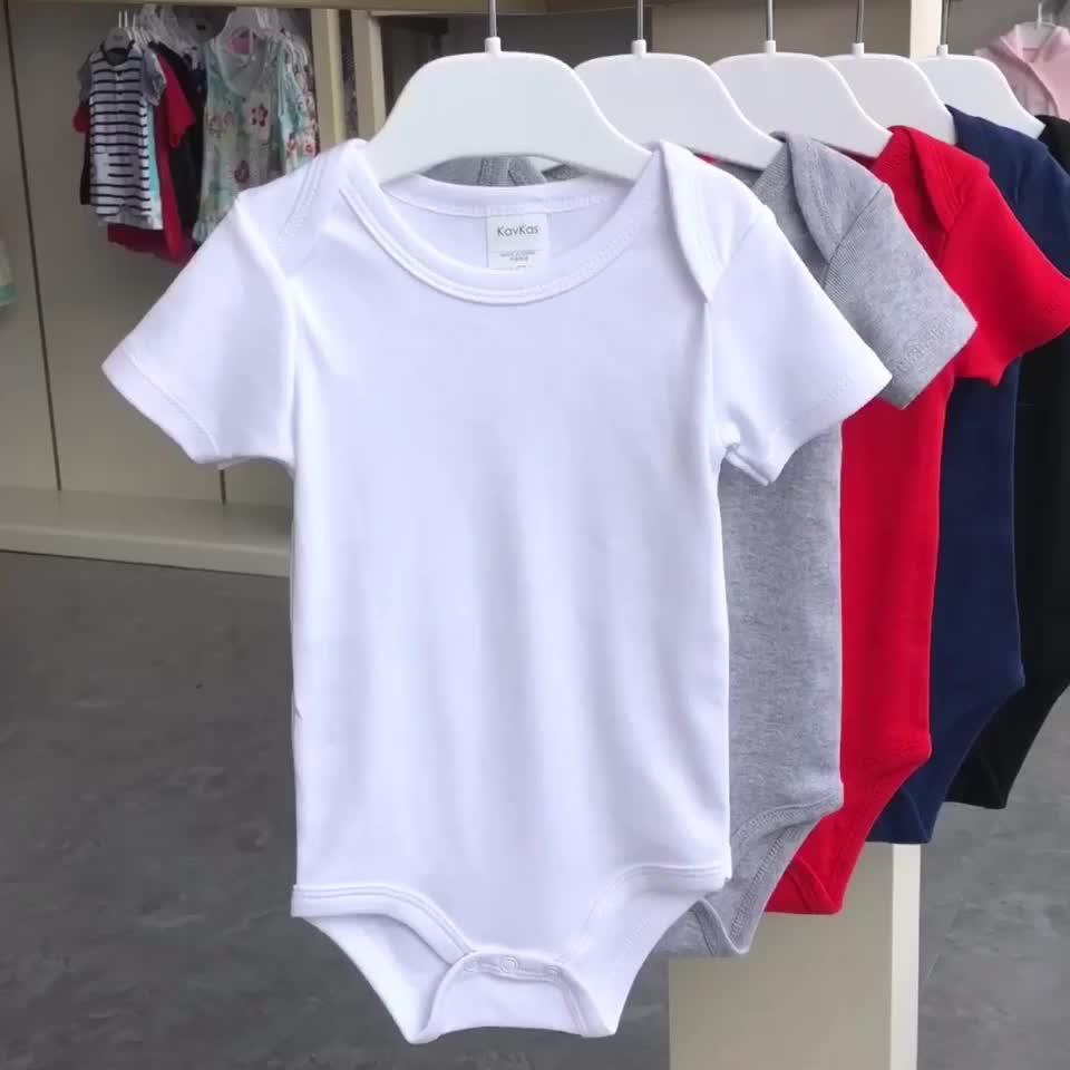 빈 아기 Bodysuit 긴 소매 면화 겨울 아기 옷 일반 흰색 아기 착용