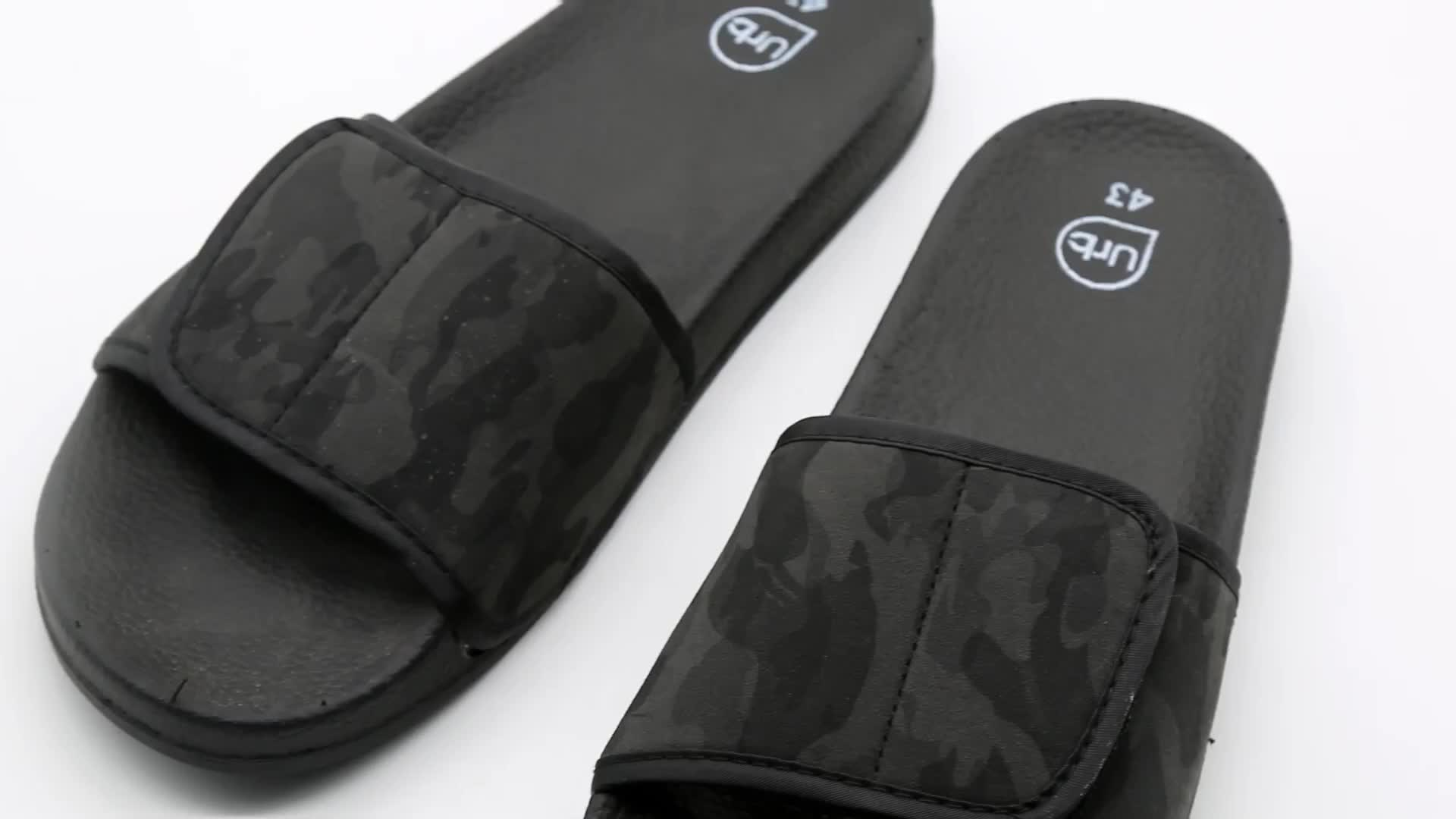 Non-Woven Fabric Mens Slides Slippers
