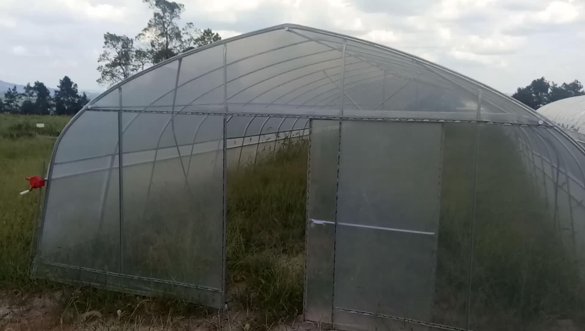 200 Mikron UV-beständiger Kunststoff-Gewächshaus