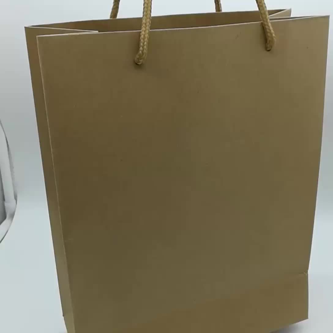 Shenzhen Custom Luxury Kraft Paper Handle Rope Packaging Bags