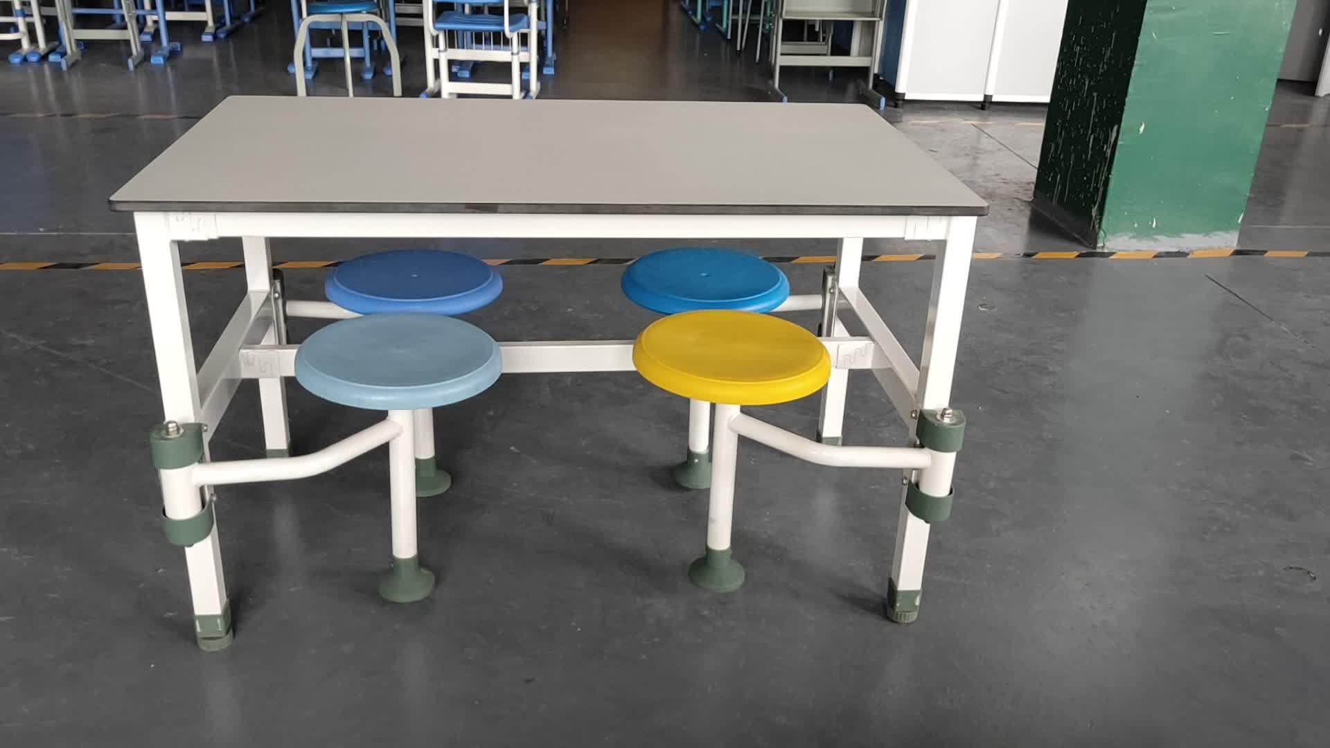 Bốn chỗ ngồi chất lượng cao trường canteen quán cà phê bảng và ghế thiết lập để bán