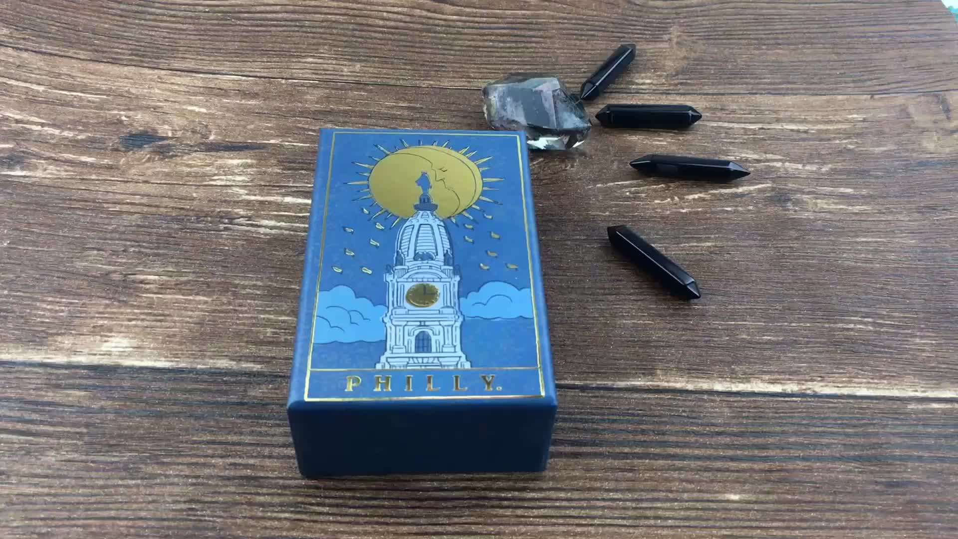 Offset Printing Paper Custom Tarot Cards Game with Top and Bottom Box