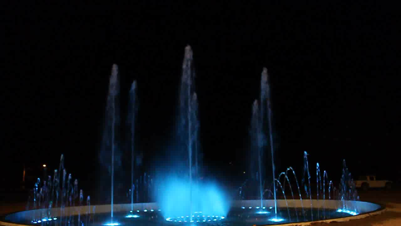 Outdoor Colorful Led Lights 30M Diameter Pool Music Dancing Water Fountain
