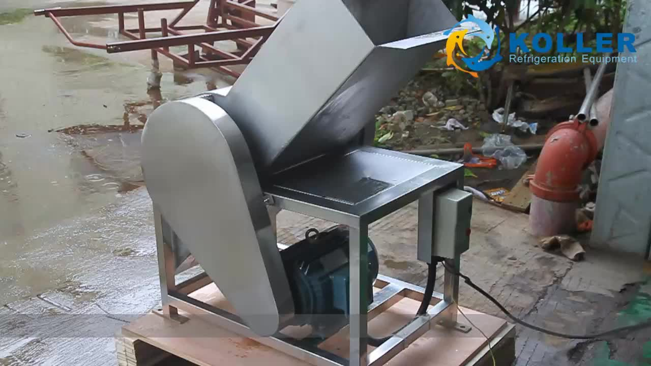 Commercial and Industrial Ice Block Cube Tube Crusher Machine