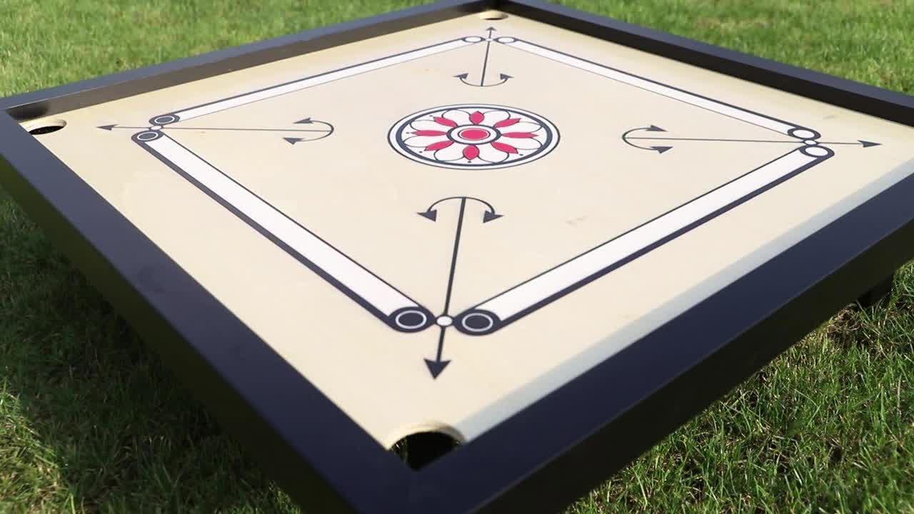 Striker Carrom Board Game Potong Koin 8mm Besar Ukuran Penuh Dewasa Kayu Lengkap