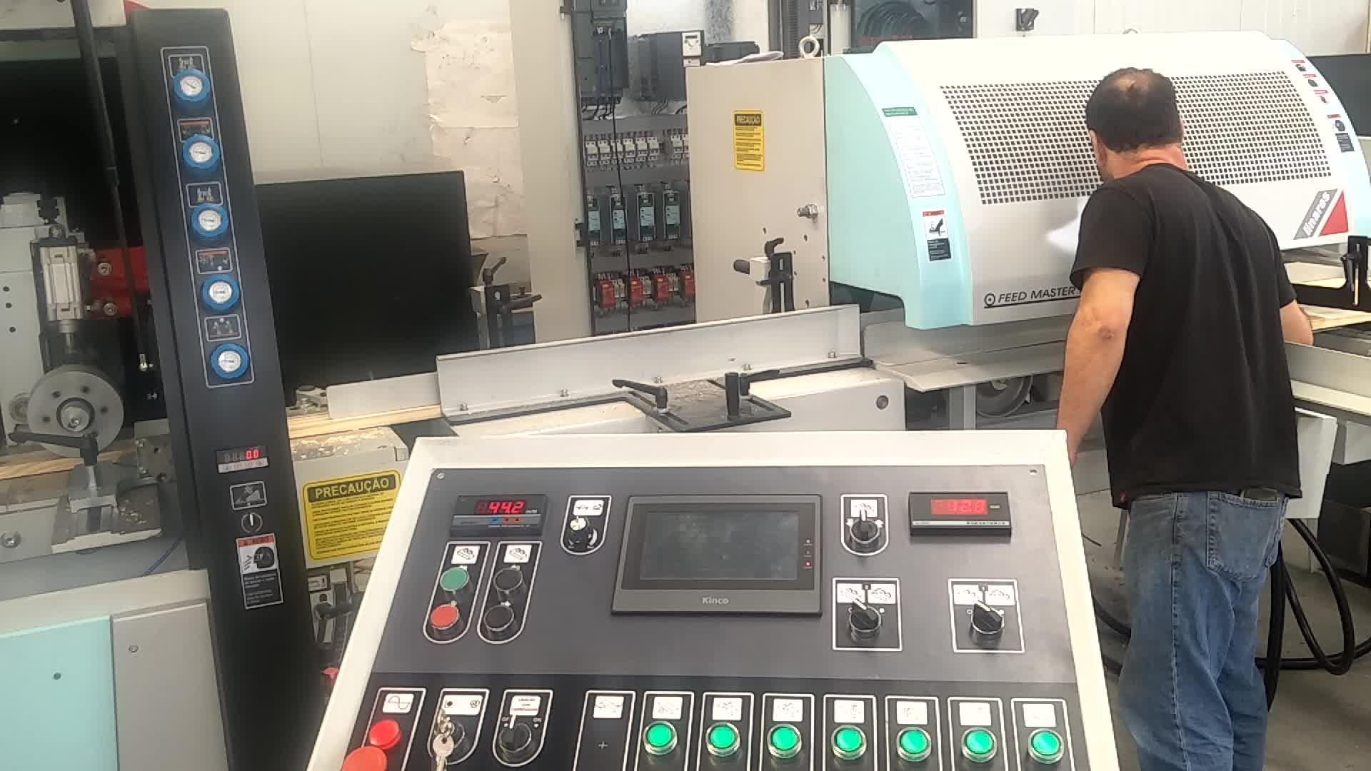 Linares Sette Mandrini Quattro Lati Formatrice per fabbrica di mobili