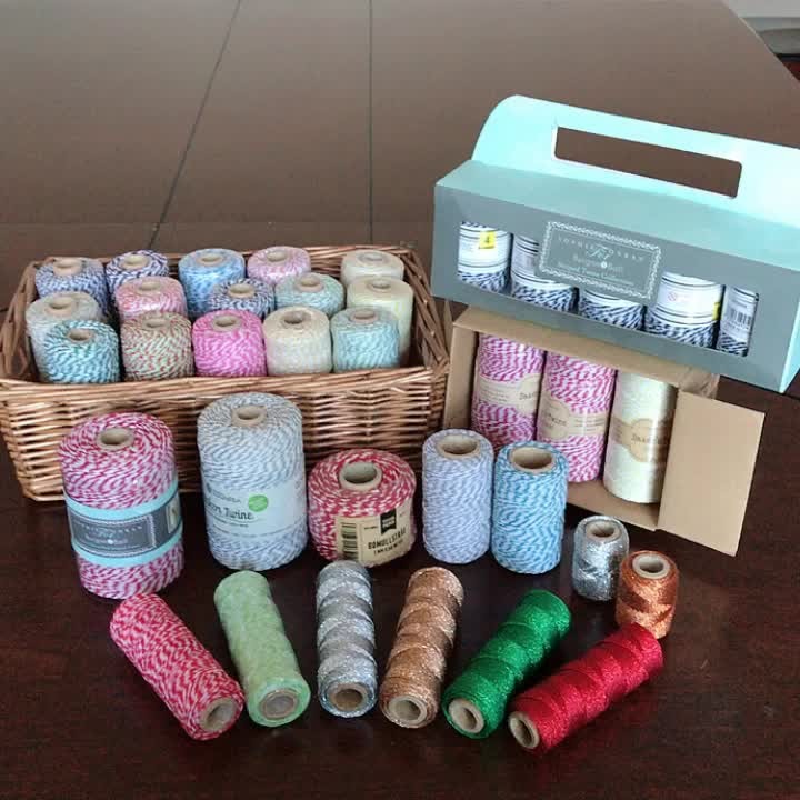 various striped colour of  decorative twine