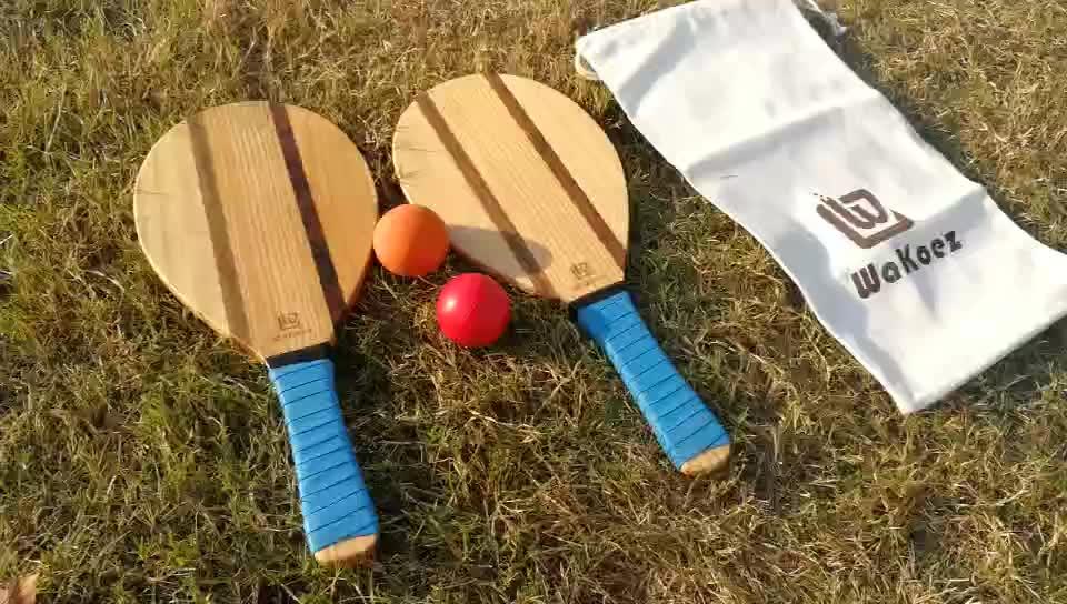 الأعلى مبيعاً على أمازون طقم كرة مضرب تنس للشاطئ خشبي