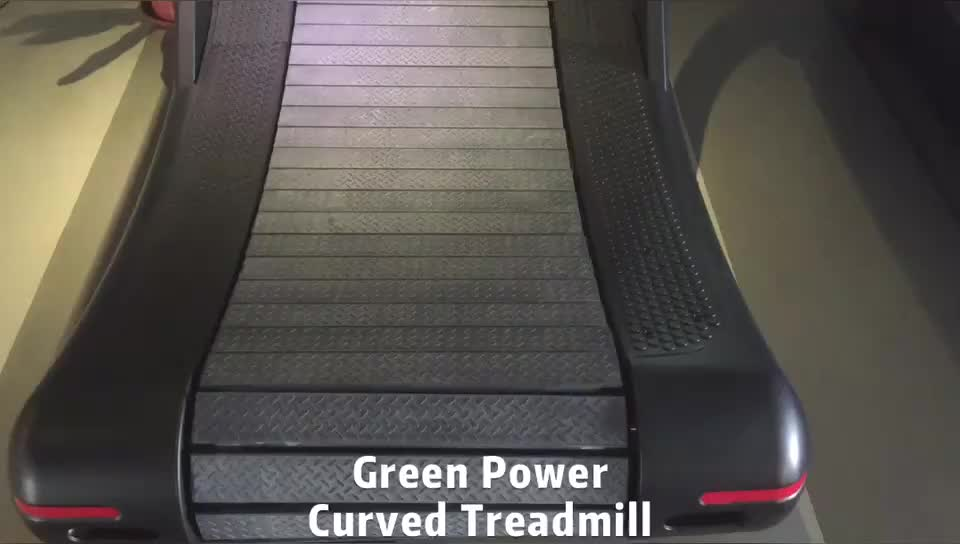 GS-648 New design and very popular commercial curved Green Power treadmill