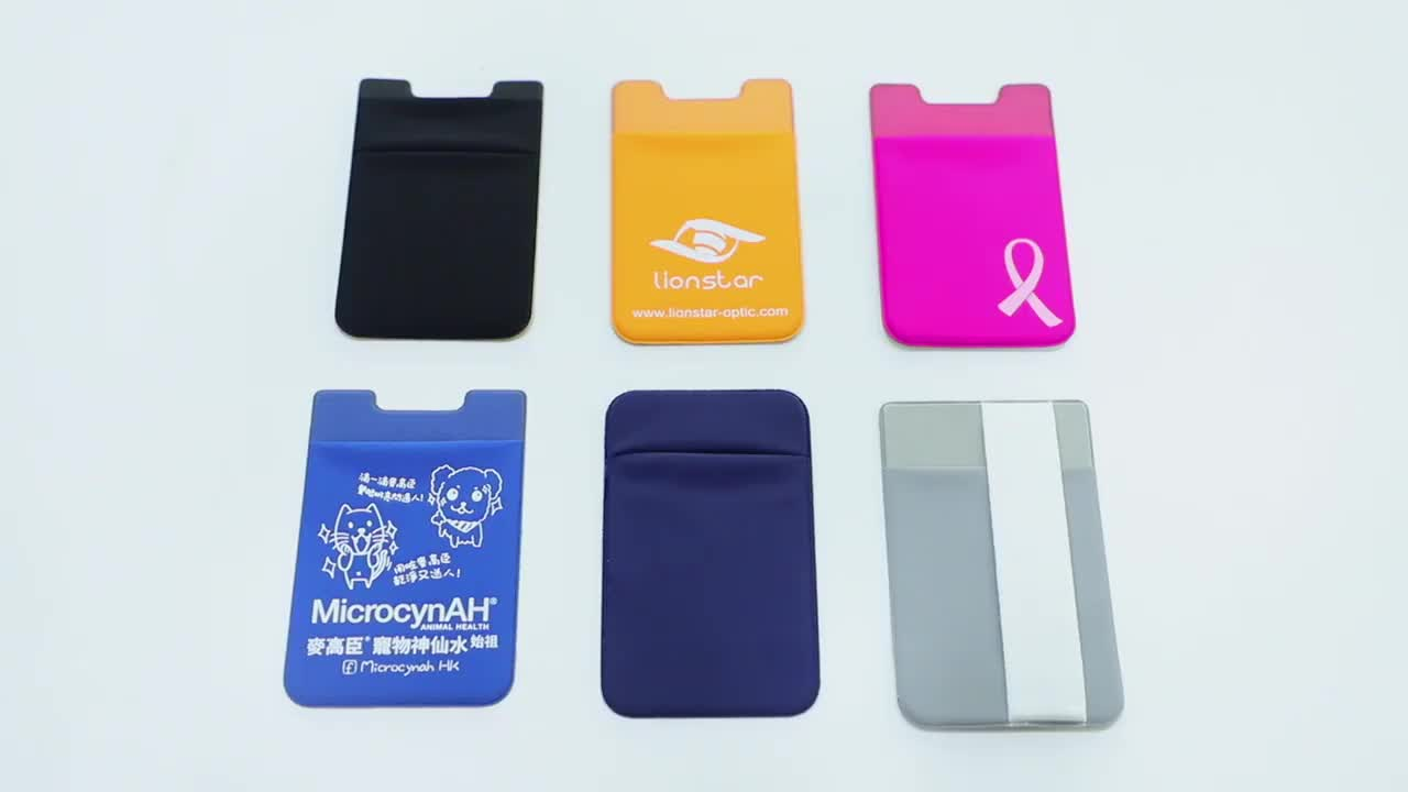 2020 Branded Cheap Price Card Holder Smartphone Card Sticker ID Card Wallet With Customized Logo