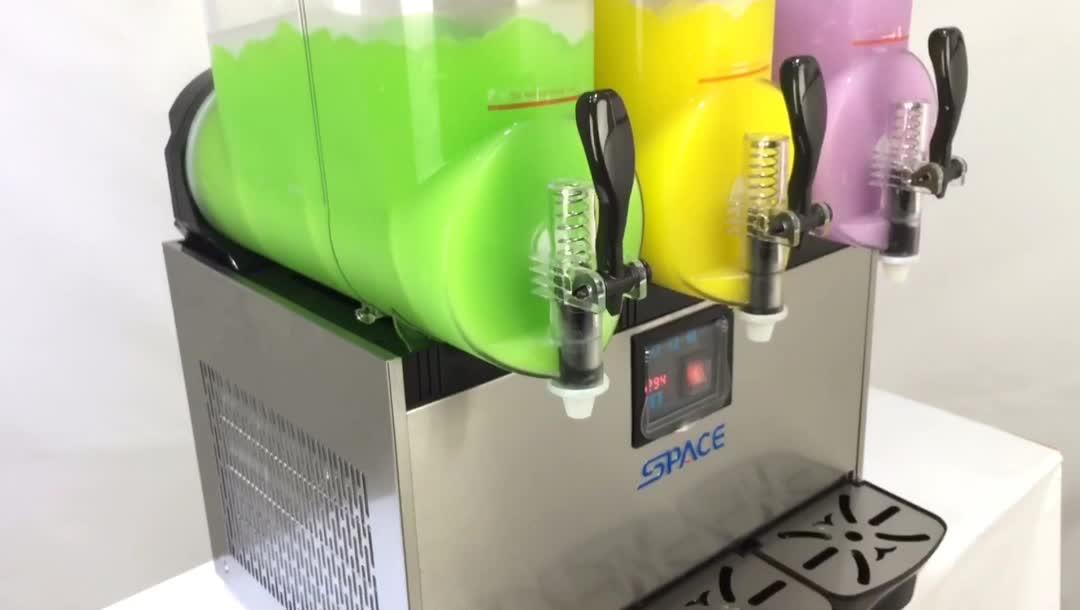 Bevroren drinken commerciële commerciële goedkope 3 tanks italiaanse granita slush machine te koop