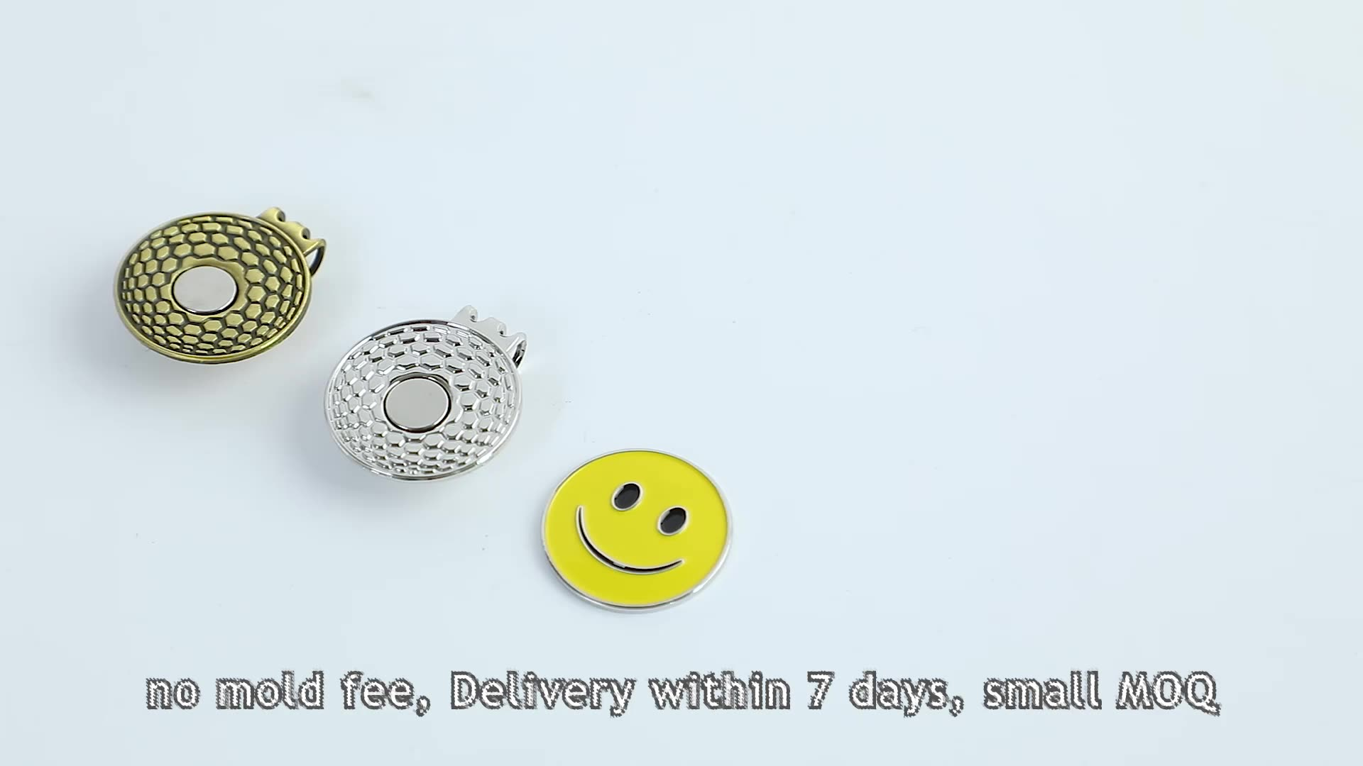 Promotional Gifts Custom Magnet Metal Blank Golf Hat Clips Golf Accessories