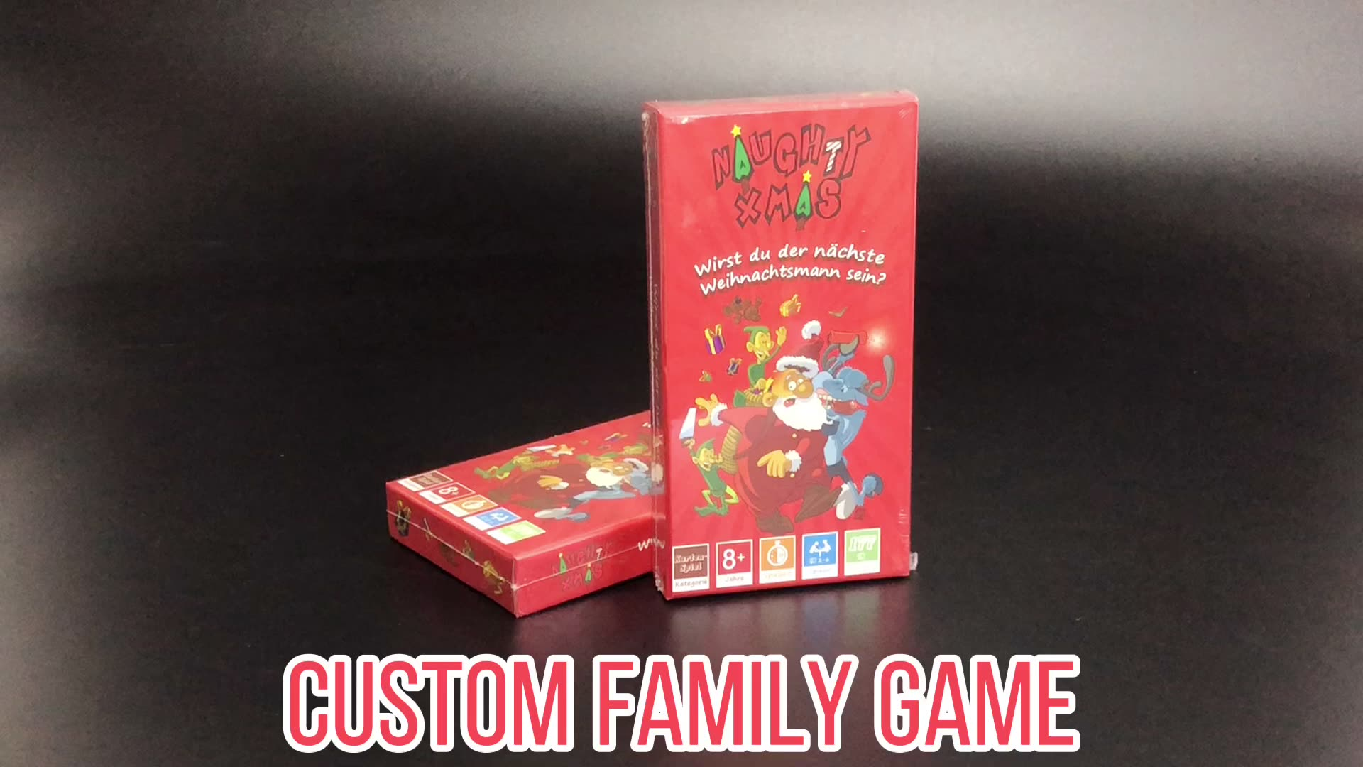 Custom adult party family drinking card game with top bottom box