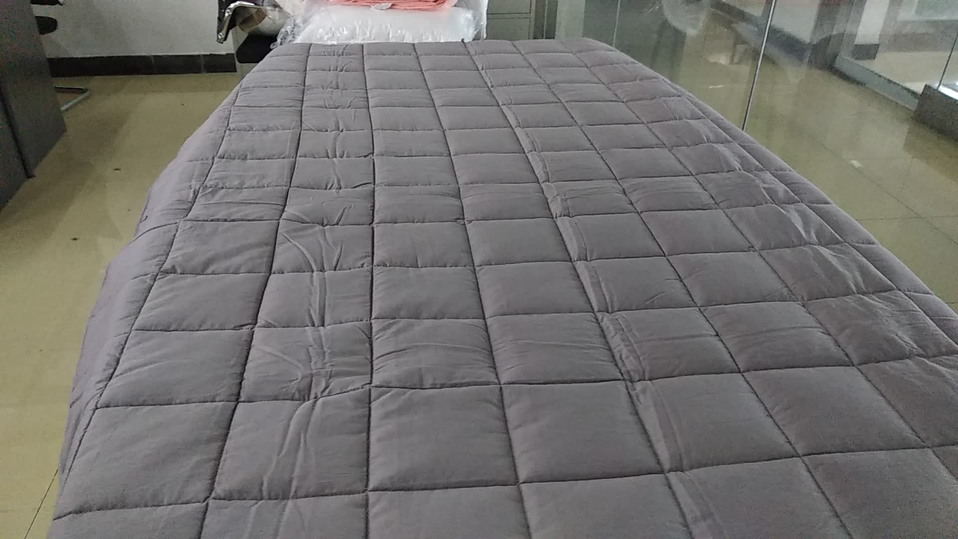50% off stock wholesale grey color weighted blanket
