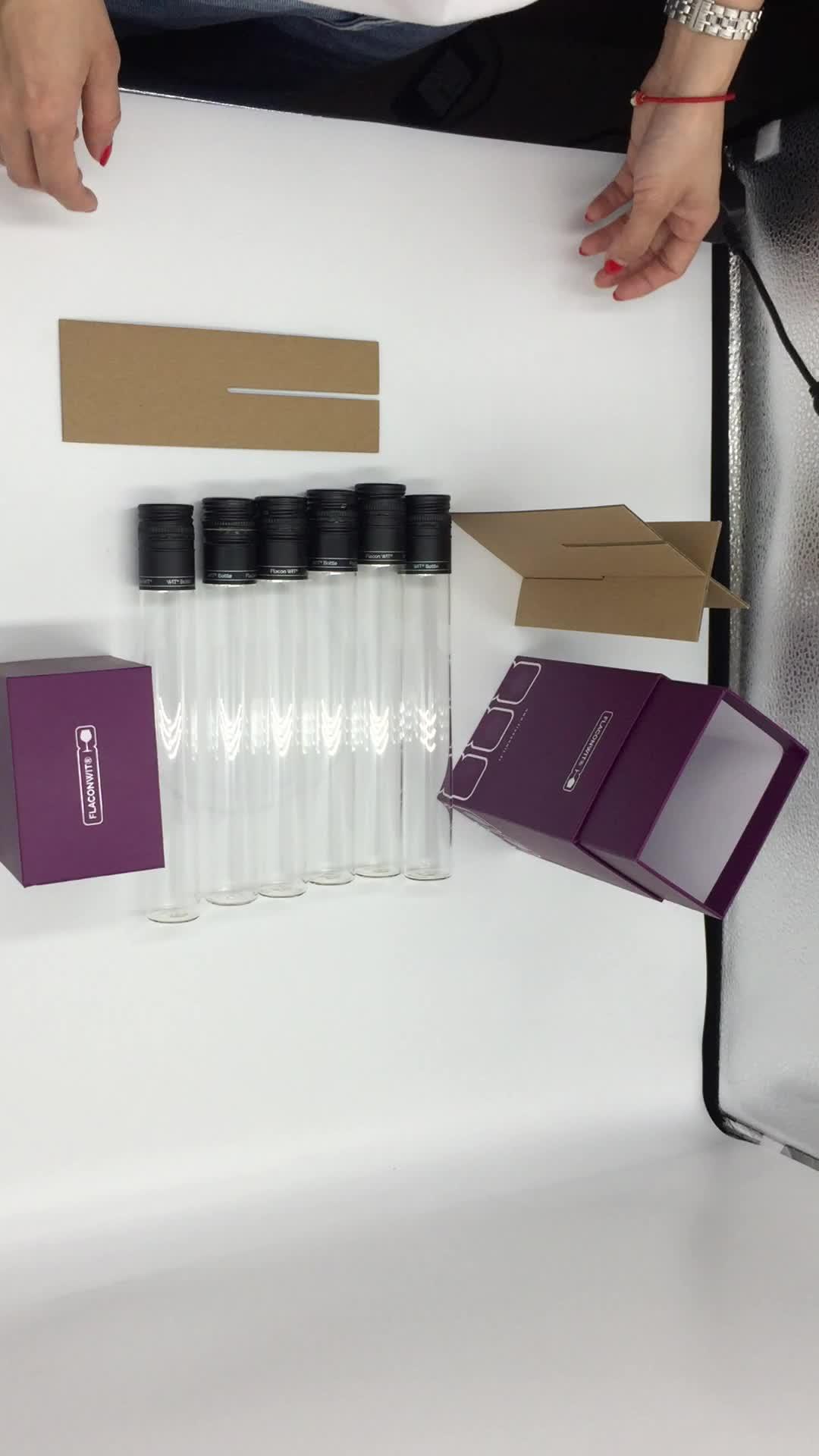 مخصص الفاخرة آلة تعبئة الهدايا صناديق لتعبئة زجاجات النبيذ 6 زجاجة ورق زجاجي مربع صندوق نبيذ أحمر التعبئة والتغليف