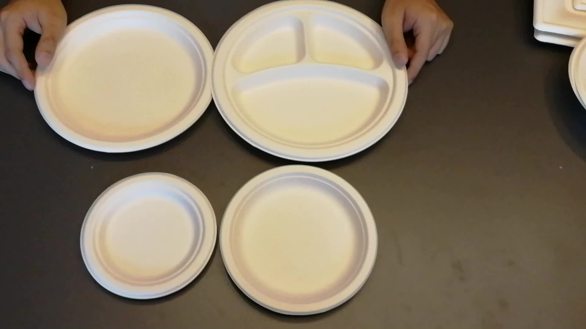 Environment friendly  normalized and customized biodegradable tableware package for packing food