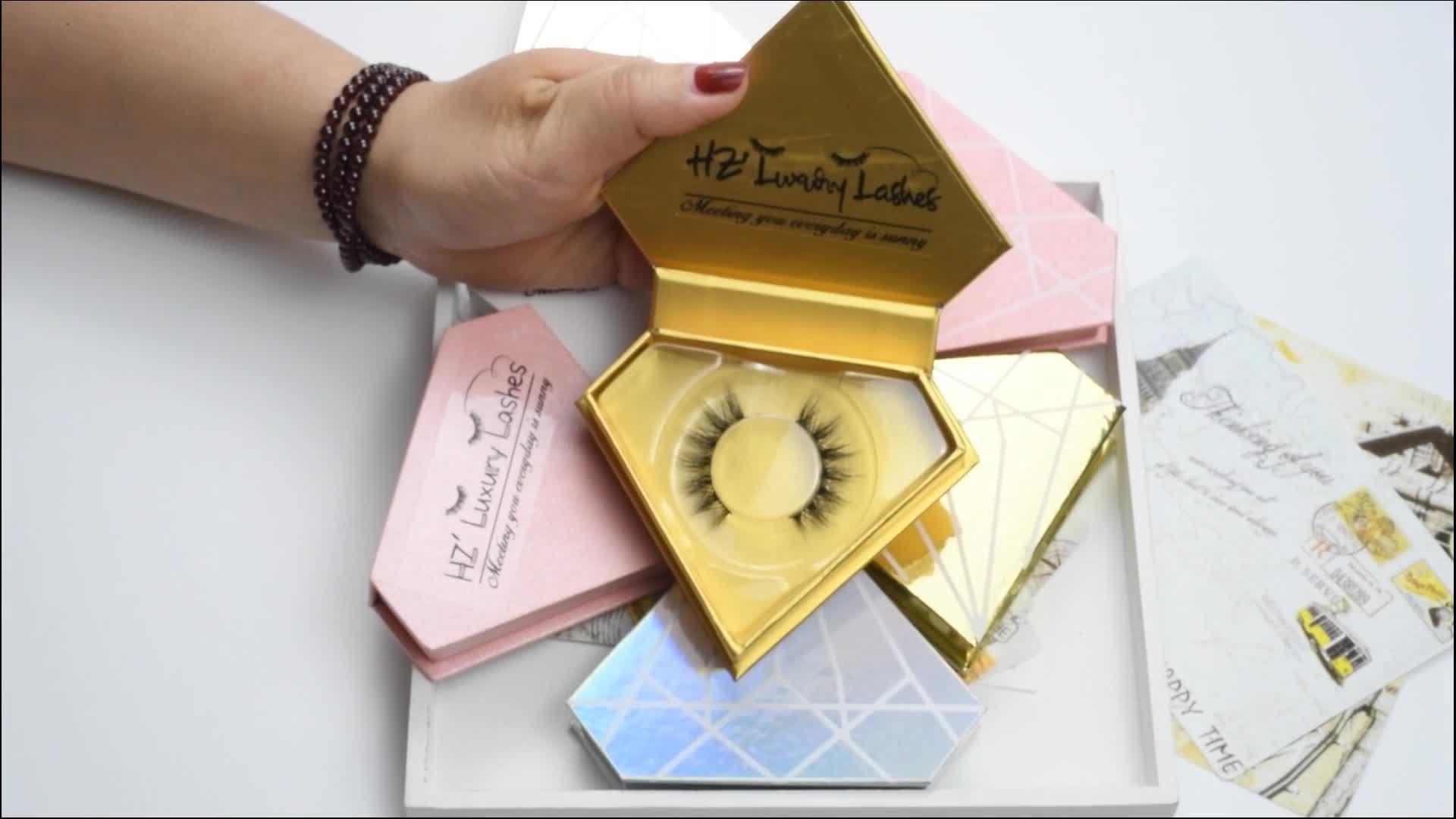 En kaliteli kirpik şerit Kendi Marka Özel Paket Özel Etiket 3D Vizon Kirpik