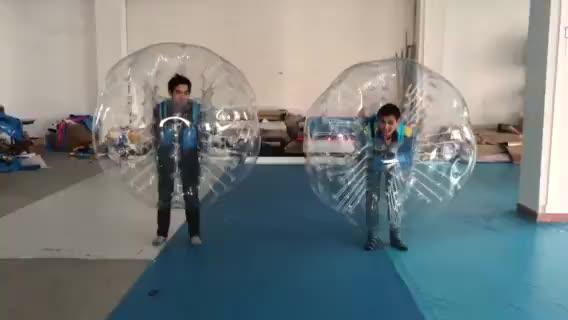 Outdoor Lucu Pvc Tubuh Manusia Gelembung Bumper Zord Bola Inflatable Bumper Bola untuk Orang Dewasa dan Anak-anak