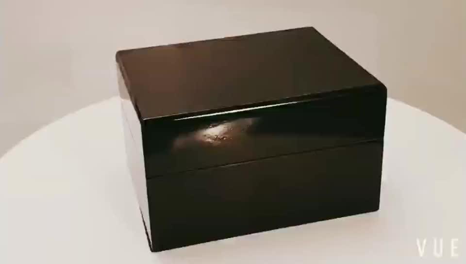 2019 핫 세일 광택 도매 나무 시계 선물 상자 블랙, 럭셔리 시계 상자 재고