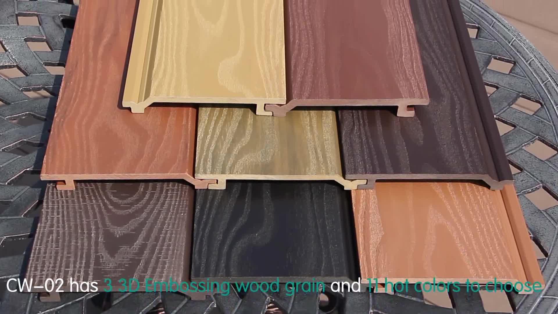 Paneles de pared compuestos de madera wpc panel decorativo al aire libre