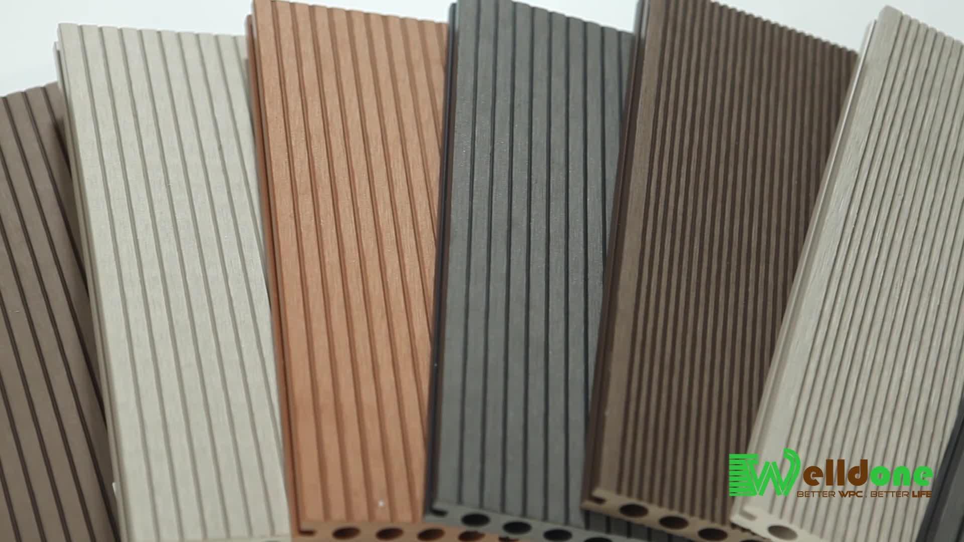 Anti scratch hout look vinyl floor beste verkopen hout kunststoffen composiet yoga vloeren waterdichte buitenkant hout plastic patio tegel