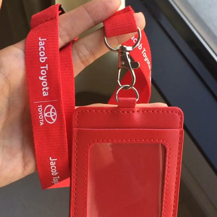 Multi color custom polyester /nylon neck strap office lanyard for  phone key andID badge holder