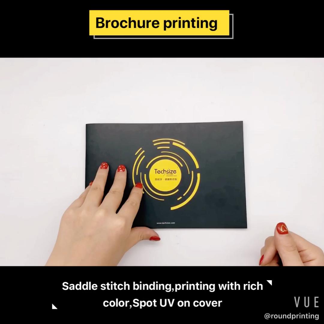 2020 седло сшитые Индивидуальные брошюра каталог печать цветных брошюр