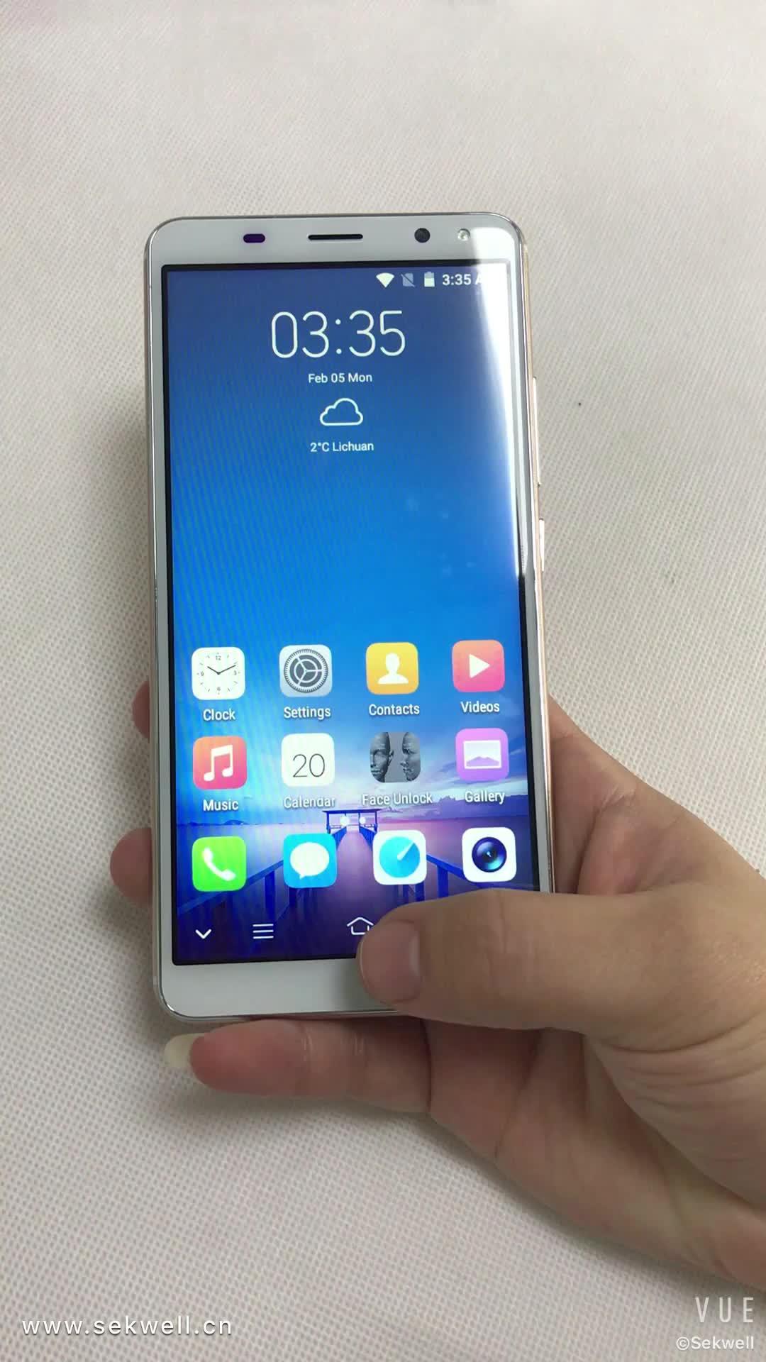18:9 3G teléfono celular desbloqueado WCDMA 5,72 pulgadas Smartphones teléfonos desbloqueados
