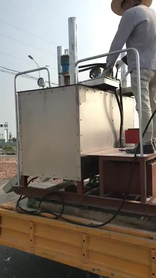 1.2 TON preheater melter pintura da marcação de estrada termoplástico máquina de mistura caldeira para venda