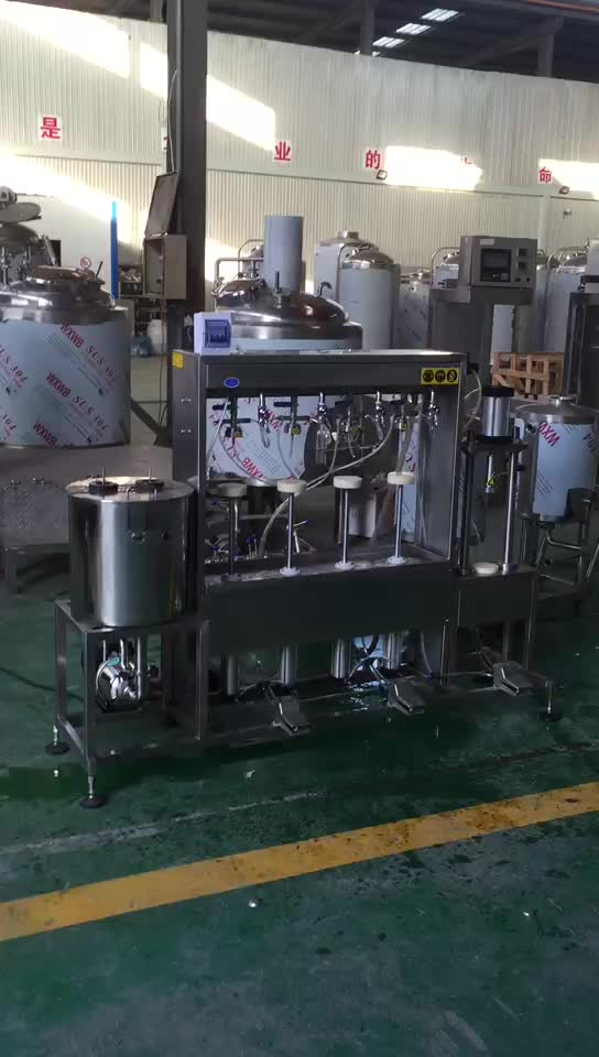 semi automatic bottle rinsing machine beer filling capping machine