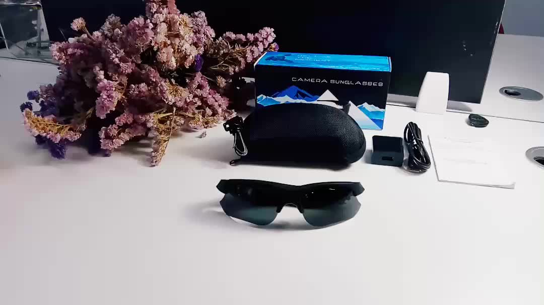 Hotselling Video Sunglass Camera Price Full HD 140 Wide Degree Spy Sunglasses Camera Manual