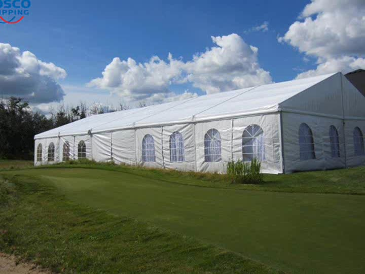 COSCO Outdoor Aluminum Structure Giant Wedding Party Marquees Tents Clear Roof Top Wedding Tents
