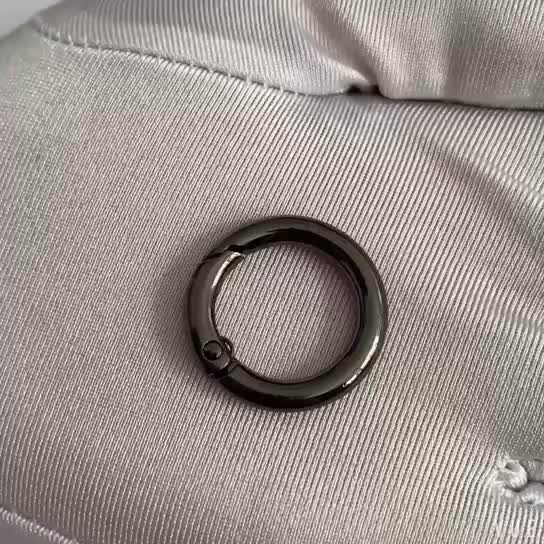 Wholesale handbag opened round rings in bulk metal split o ring with custom letter