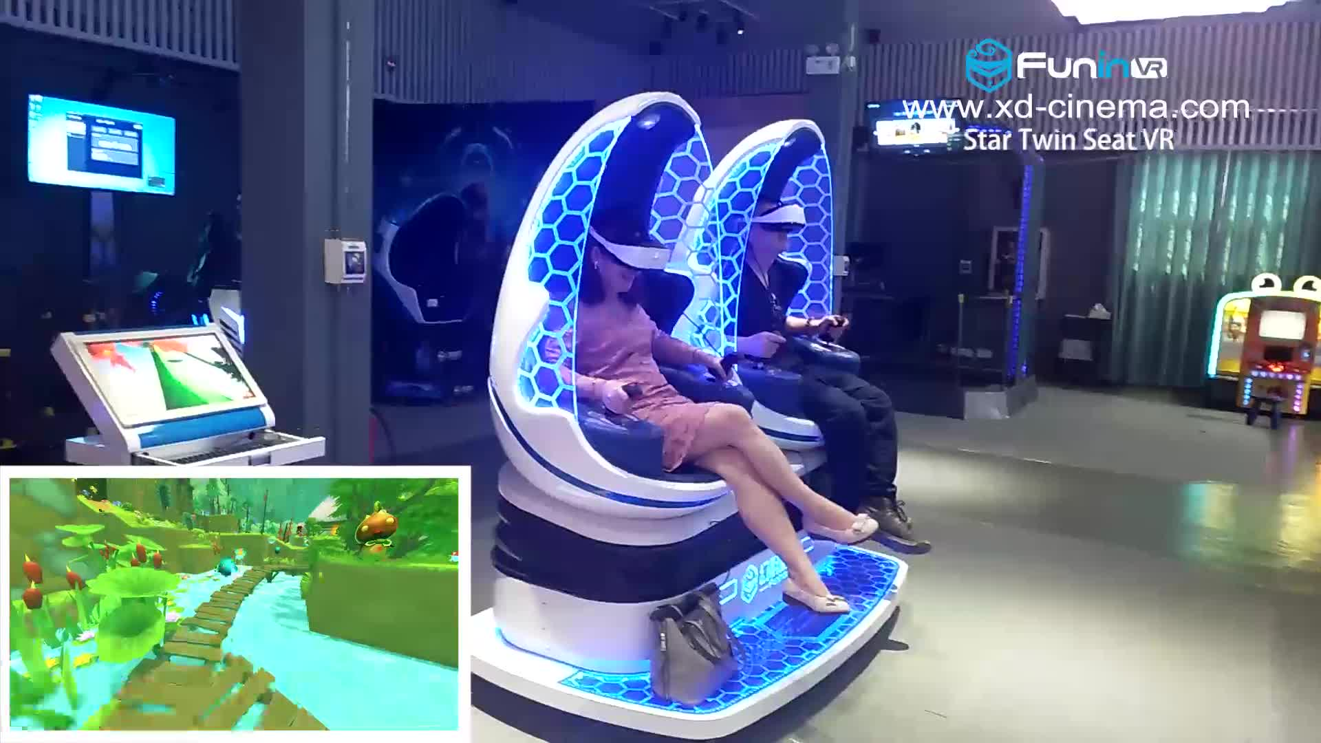 गतिशील 360 डिग्री इंटरैक्टिव वी. आर. सिम्युलेटर अनुभव आभासी वास्तविकता 9d वी. आर. अंडे की कुर्सी सिनेमा उपकरण 9D वी. आर.