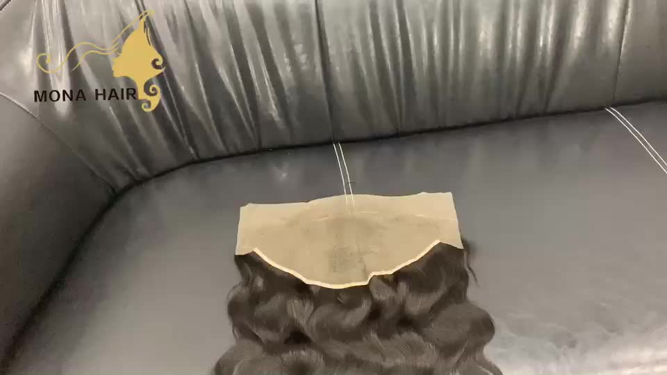 Top quality raw cuticle aligned human hair pre plucked natural hairline invisible swiss transparent lace frontal ear to ear 13x4