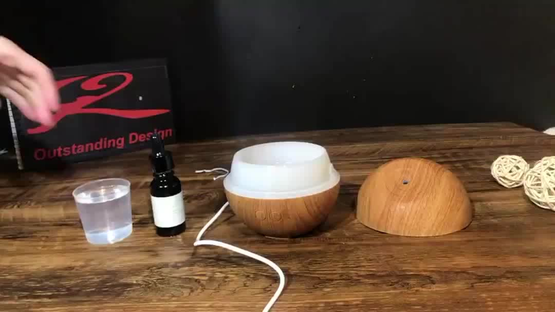 New design 60ml natural led changing mini essential oil aroma diffuser