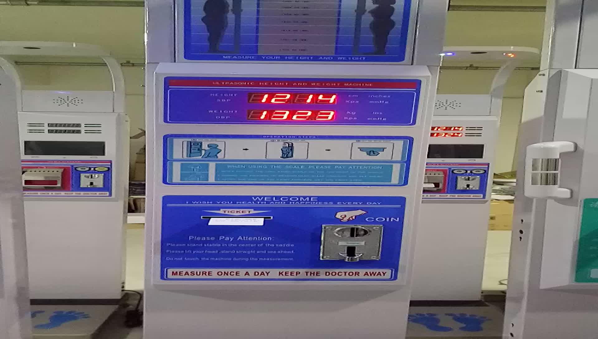 Ultrasonic Tinggi Timbangan Mengukur Berat dan Berat Badan