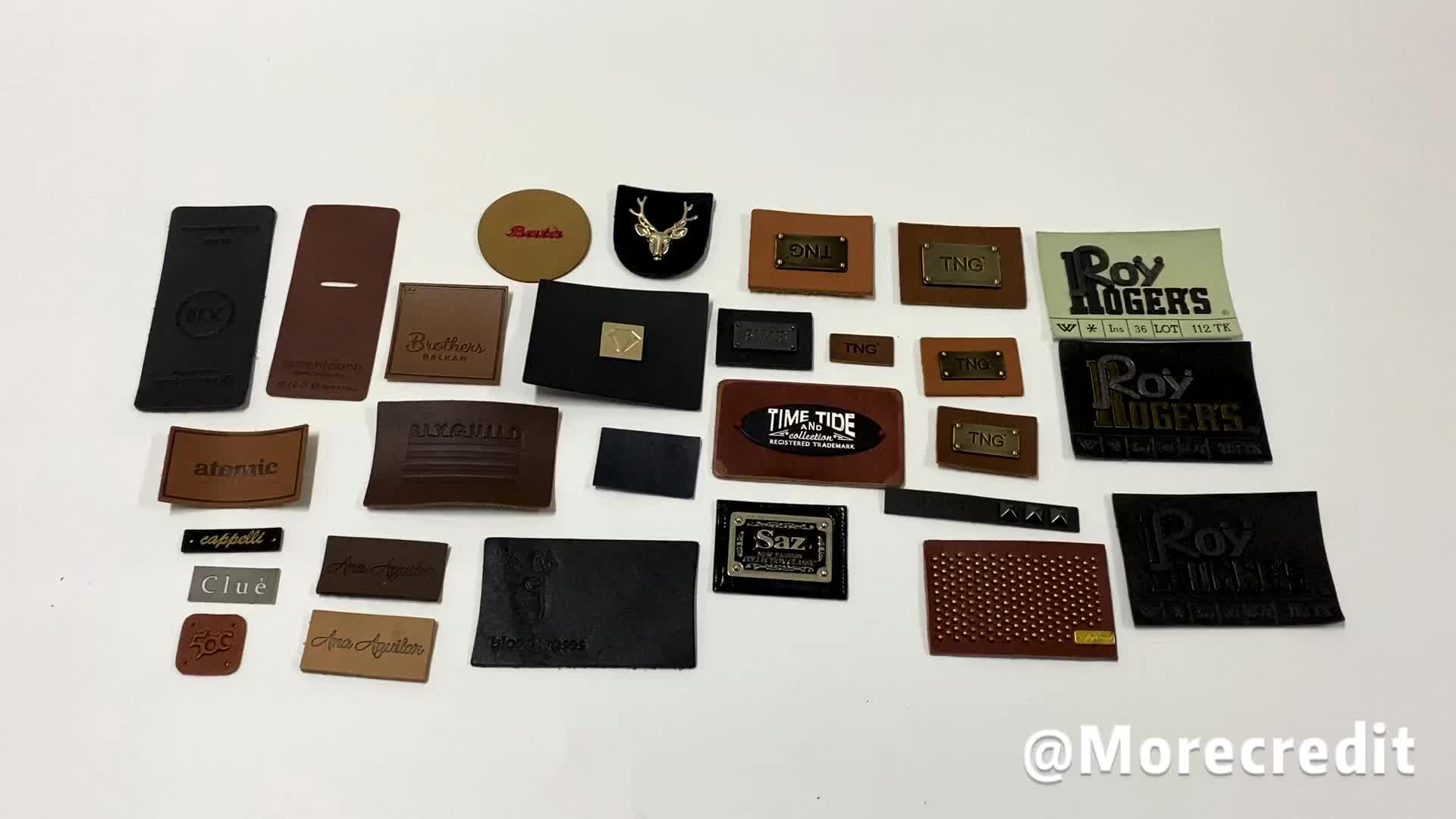 Custom Clothing Brand Leather Patch Jeans Leather Patch Factory