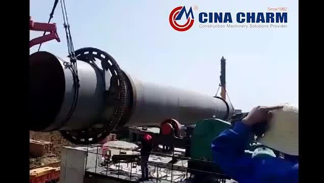 Lityum tozu döner fırın sünger demir tesisi 300-6000 tpd döner çimento fırını